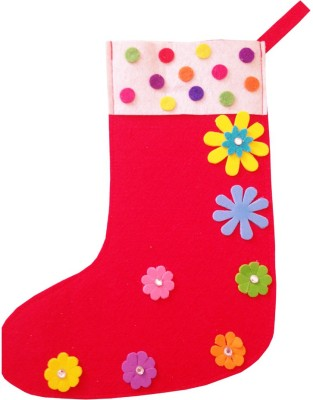 Lill Pumpkins Christmas Stocking(Pack of 1)