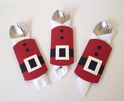 Crack of Dawn Crafts Cutlery Wraps/ Napkin Holders Christmas Stocking(Pack of 6)