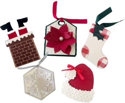 Crack of Dawn Crafts Handmade Gift Tags Christmas Stocking(Pack of 5)