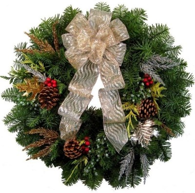 Christmas Tree Shops Christmas Wreath(Pack of 1)