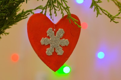 Toynest Glittery Hearts Hanging Ornaments