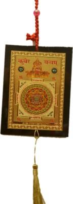 Odisha Bazaar Kubera Yantra Gold, Polypropylene Yantra