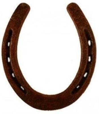 Numeroastro Black Horse Shoe (Kale Ghode Ki Naal) Iron Yantra