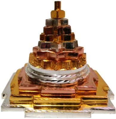 DivineKraft Maha Meru Shree Yantra Golden-Silver-Bronze Brass Yantra(Pack of 1)