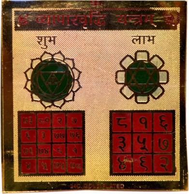 Amazing India Vyapar Vridhi Hindu Amulet Prosperous Bussines & Good Fortunes Brass Yantra