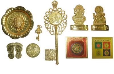 Spiritual Max Shree Kuber Dhan Laxmi Varsha Complete Kit with Audio CD Brass Yantra