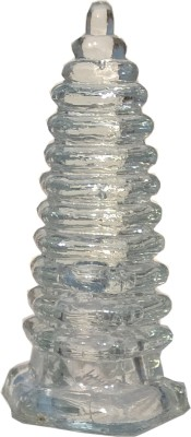 Mann Retails Crystal energy tower blessed for positive energy and vastu correction Glass Yantra