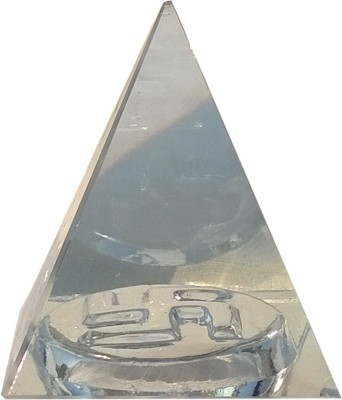 Mann Retails Crystal pyramid for positive energy and vastu correction with swastik symbol Glass Yantra