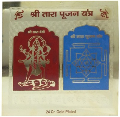 APDI Gold Plated Mantra Sidhhi Shree Taara Pujan Copper Yantra