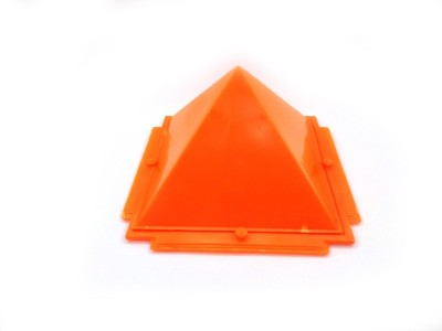 Sitare Orange Pyramid for Vaastu and Fengshui Plastic Yantra(Pack of 1)