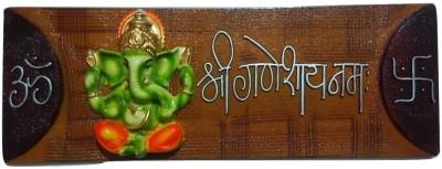 BKM&SONS Lord Ganesha Nameplate Showpiece Plastic Yantra