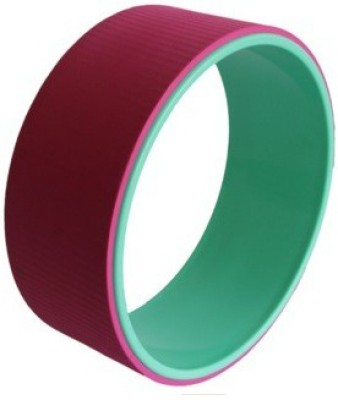 The SweatShop Yoga wheel Pink/Cyan Yoga Blocks(Pink, Multicolor Pack of 1)