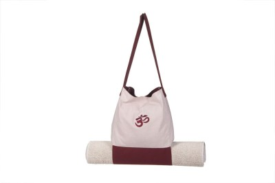 Kanyoga Om Bag With Mat Holder Yoga Blocks(Beige, Brown Pack of 1)