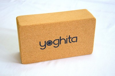 Yoghita Cork Yoga Blocks(Brown Pack of 1)