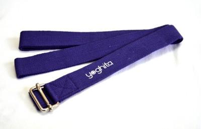 Yoghita YCSP_Purple Cotton Yoga Strap
