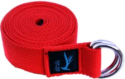 Top Yogi Belt Crimson Cotton Yoga Strap