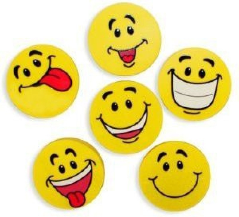 Fun Express Large Smile Face Erasers (4 Dozen) Yoyo Friction Sticker(Pack of 34)