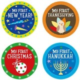 Pearhead Baby Holiday Belly Stickers wit...