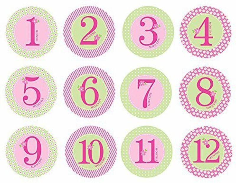 Pearhead Baby Milestone, Pink Yoyo Friction Sticker(Pack of 12)