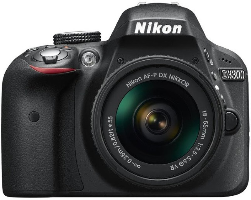 Nikon D3300 DSLR Camera (Body with AF-P DX NIKKOR 18 - 55 mm F3.5 - 5.6 VR Kit Lens)(Black)