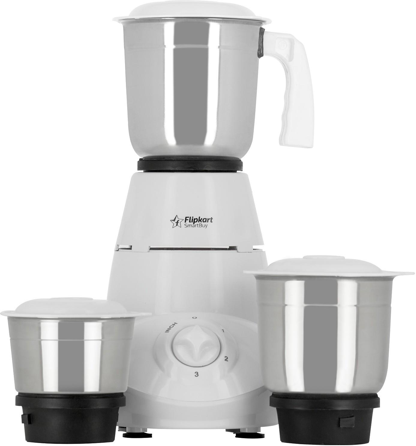 Flipkart SmartBuy Classico 500 W Mixer Grinder(White, 3 Jars)