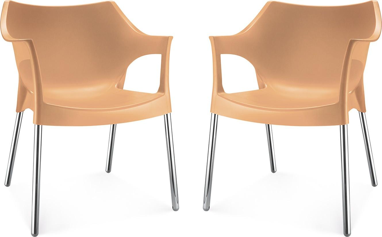 Nilkamal Plastic Living Room Chair(Finish Color - Brown) Furniture