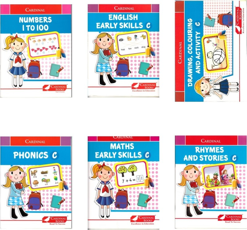 Cardinal Fun Learning Books - Senior Kg. (Set Of 6)(Paperback, Sheth Publishing House)