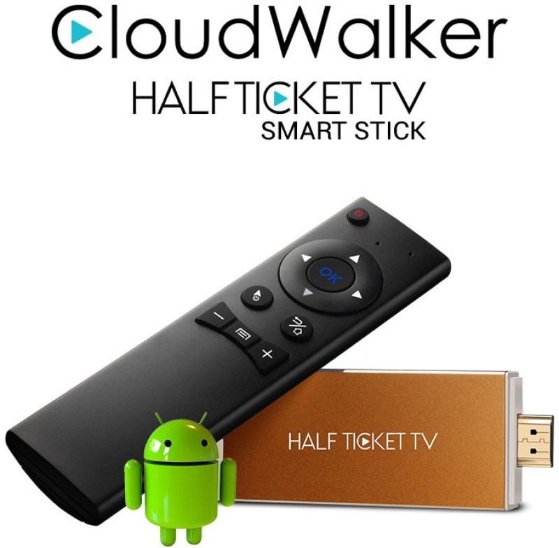 Cloudwalker Halfticket Wifi streaming dongle model AI805 Media Streaming Device(Gold)